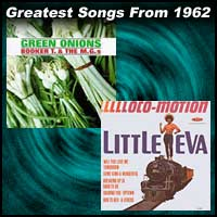 record cover art for Green Onions by Booker T. & the MG's and The Loco-Motion by Little Eva