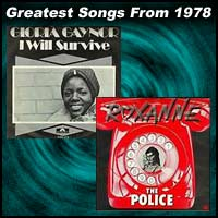 record cover art for I Will Survive by Gloria Gaynor and Roxanne by the Police