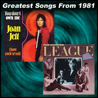 record cover art for I Love Rock 'n' Roll by Joan Jett & The Blackhearts and Don't You Want Me? by Human League