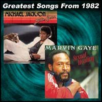 record cover art for Billie Jean	by Michael Jackson and Sexual Healing by Marvin Gaye