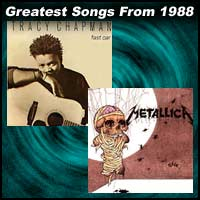 record cover art for Fast Car by Tracy Chapman and One by Metallica