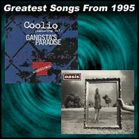 record cover art for Gangsta's Paradise by Coolio and Wonderwall by Oasis