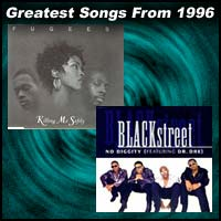 record covers for Killing Me Softly by The Fugees by The Verve and No Diggity by BLACKstreet