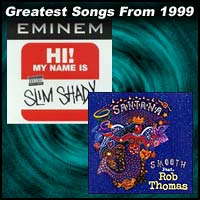 record covers for My Name Is by Eminem and Smooth by Santana