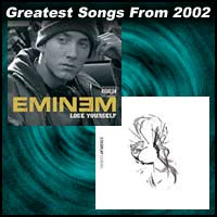 record covers for Lose Yourself by Eminem and Clocks by Coldplay