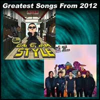 record sleeve for Gangnam Style by Psy and Payphone by Maroon 5