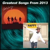 single cover for Get Lucky by Daft Punk and Happy by Pharrell Williams