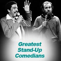 Comedians Richard Pryor and George Carlin