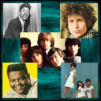 Little Richard, Bob Dylan, Rolling Stones, Fats Domino and the Supremes