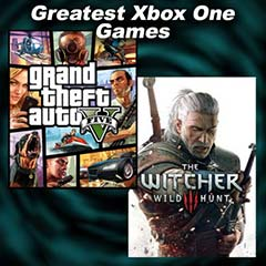 "Images from Xbox One Games ""Grand Theft Auto V"" and ""The Witcher 3: Wild Hunt"""