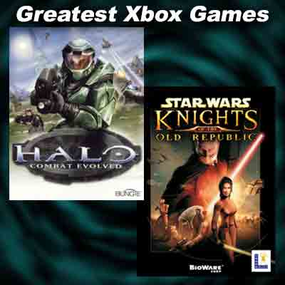"Images from XBOX Games ""Halo: Combat Evolved"" and ""Star Wars: Knights of the Old Republic"""