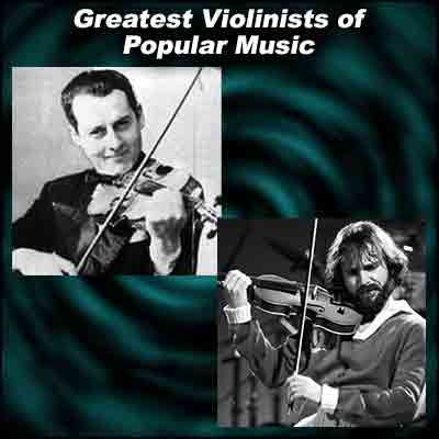 Violinists Stéphane Grappelli and Jean-Luc Ponty