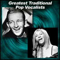 Bing Crosby and Barbara Streisand
