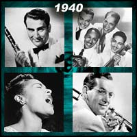 recording artists Artie Shaw, Ink Spots, Billie Holiday, and Glenn Miller