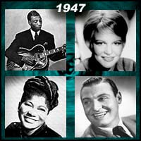 recording artists T-Bone Walker, Jo Stafford, Mahalia Jackson, and Frankie Laine
