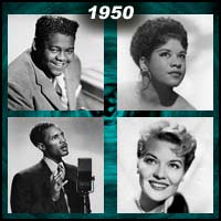 recording artists Fats Domino, Ruth Brown, Percy Mayfield, and Patti Page