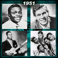recording artists Jackie Brenston, Johnnie Ray, Elmore James, and the Five Keys