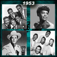 recording artists Drifters, Hank Williams, Orioles, and Faye Adams