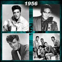 recording artists Elvis Presley, Carl Perkins, Gene Vincent, and the Five Satins