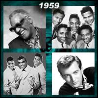 recording artists Ray Charles, Flamingos, Bobby Darin, and the Drifters