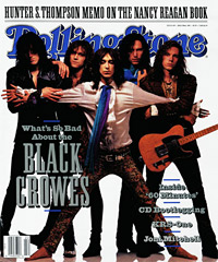 music group Black Crowes on Rolling Stone magazine cover