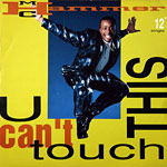 U Can't Touch This - single cover