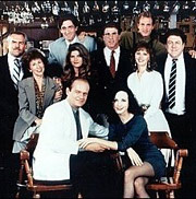 Cheers television show cast photo