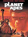 The Planet of the Apes movie DVD cover