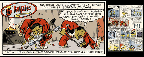 The 5 Royales comic strip