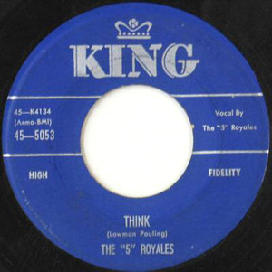 Think by The 5 Royales 45 single cover
