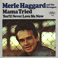 Mama Tried by Merle Haggard single cover